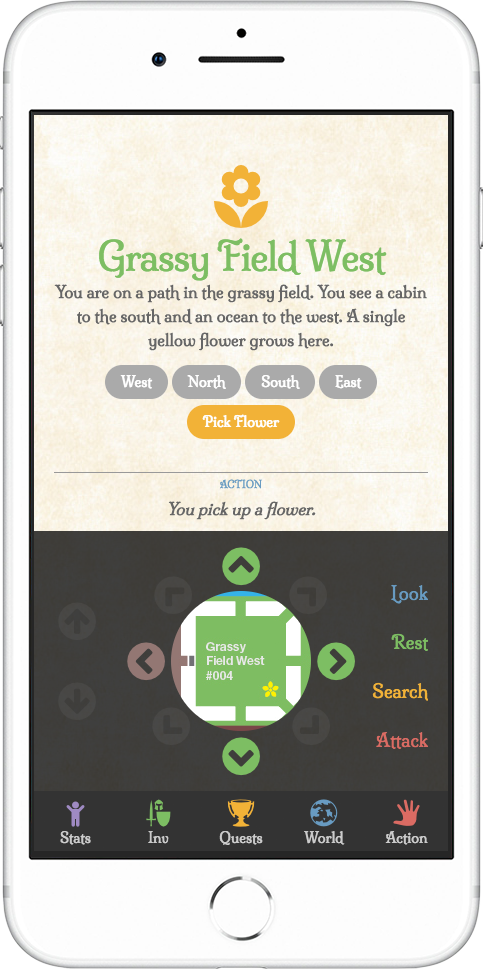 light gray rpg demo mobile grassy field west flower screenshot