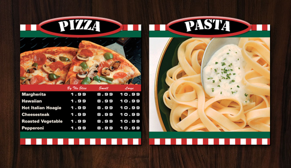 IDS Menus - Pizza and Pasta Menu