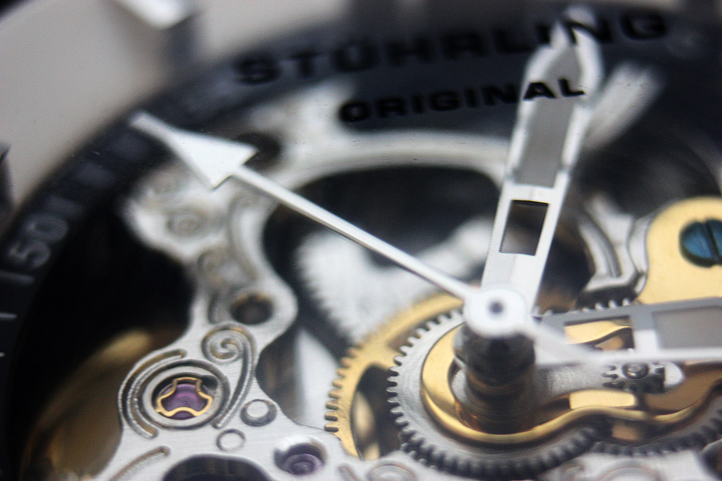 macro photo of watch gears