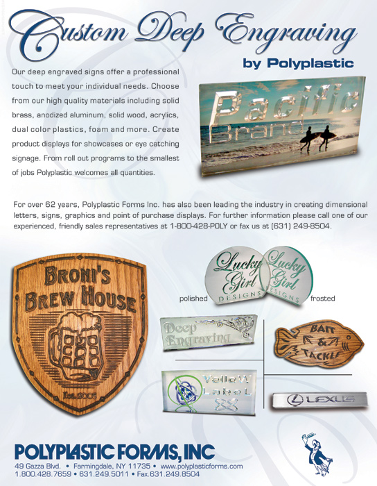 PolyPlastic Forms - 3d Engraving flyer