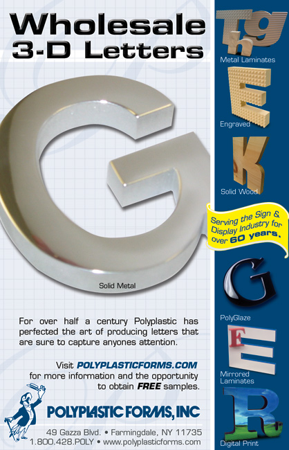 PolyPlastic Forms - 3D Metal Letters