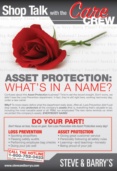 Human Resource Poster Design - Asset Protection