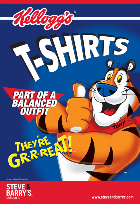 Kellogg's New T-shirt arrivals. Tony the Tiger, they're Great!