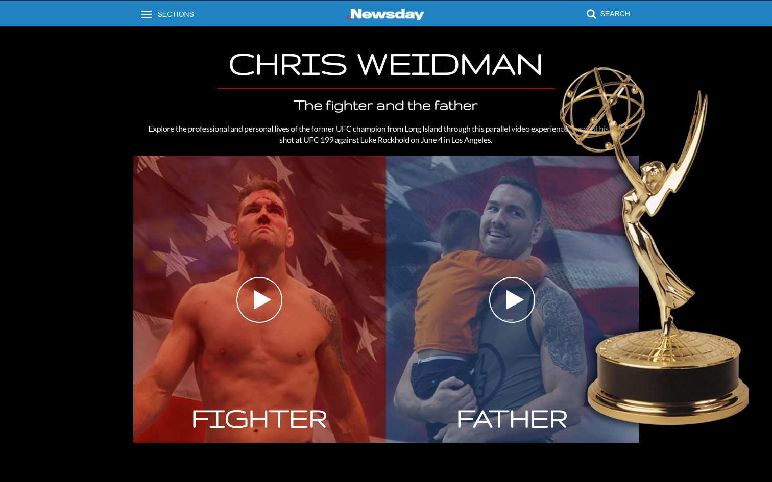chris weidman project - emmy winner